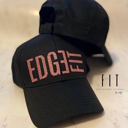 FIT Performance Hat | Rose Gold Sparkle Logo