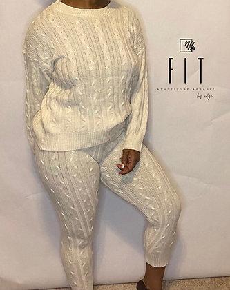 FIT Knit Sweater Set   Ivory