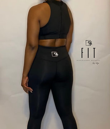 FIT Zipper Back Set | Black