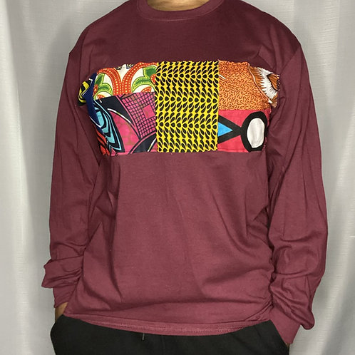 Men's Abstract Long Sleeve Tee