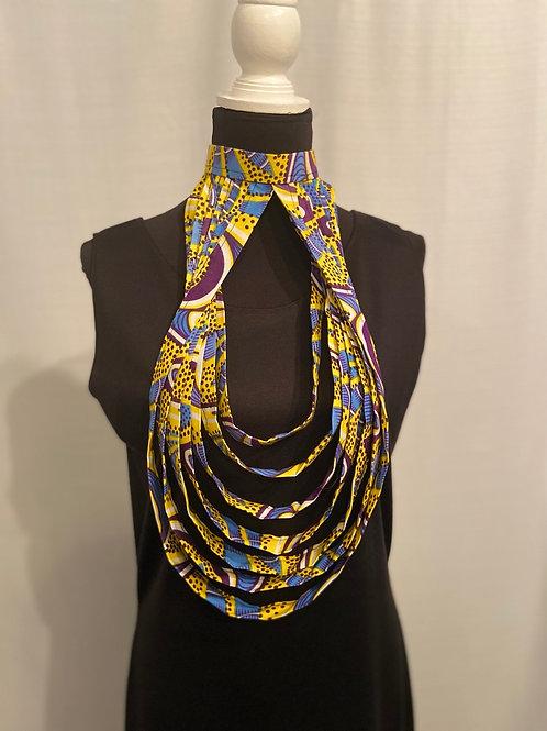 Purple's Blue Teardrop Necklace