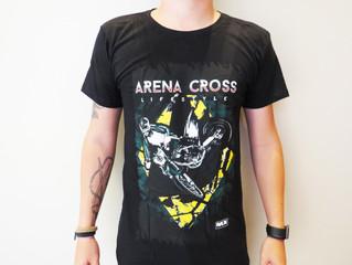 Arena Cross lança loja virtual com diversos modelos de camisetas