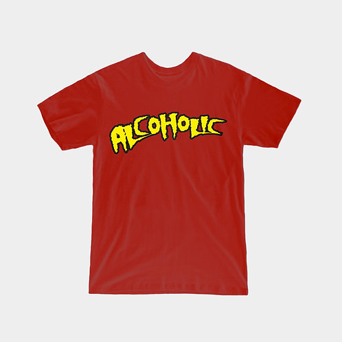 "Rick Dogg ""Alcoholic"" T-Shirt (Red)"
