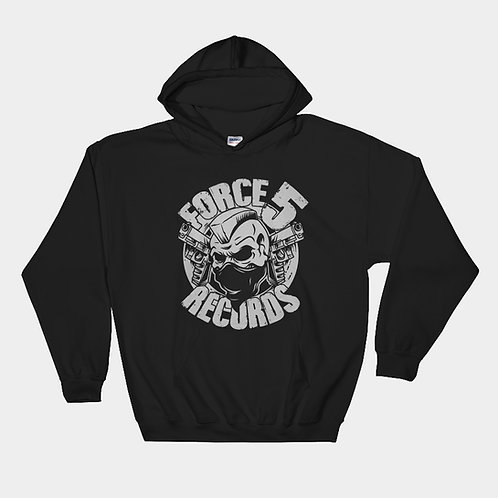 Mono Force 5 Records Pullover Hoodie (Black)