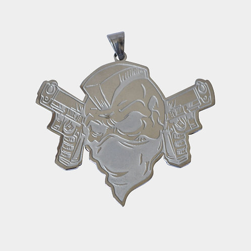 Force 5 Records Pendant (Silver)