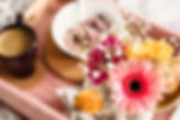 Breakfast on tray with pink flowers.jpg