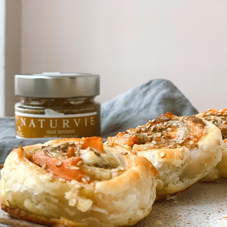 Rollitos de Paté de Aceitunas y Salmón ahumado