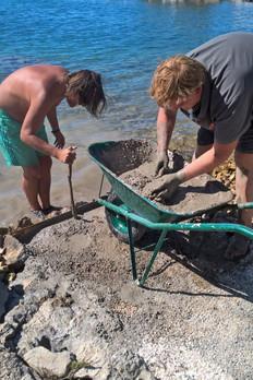 Arbeiten am Meer in Kroatien