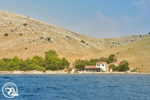 Einsames Haus in den Kornaten Kroatien