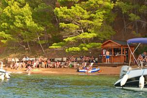 Strandbar in Dalmatien Kroatien
