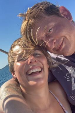 Aussteiger, Vanlifer Paar in Kroatien