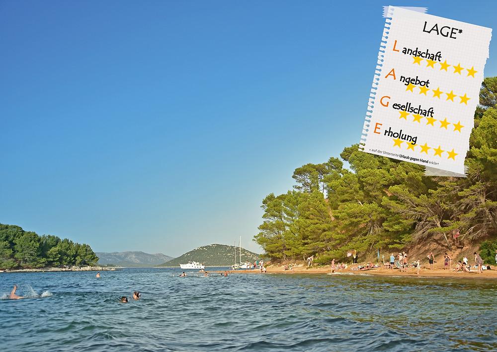 Insel in Kroatien.