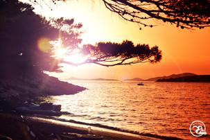 Sonnenuntergang Strand Kroatien