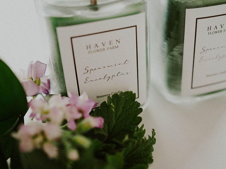 Spearmint Eucalyptus Beeswax Candle