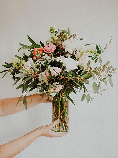 Valentine's Bouquet In Glass Vase Pre-order