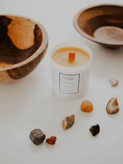 Whiskey River Beeswax Candle