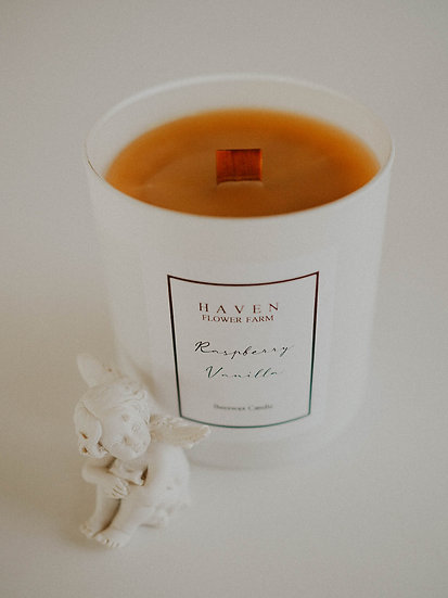 Raspberry Vanilla Beeswax Candle Wholesale