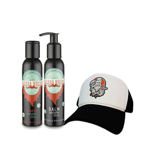 Kit Balm+Shampoo+Boné Trucker Under Beard