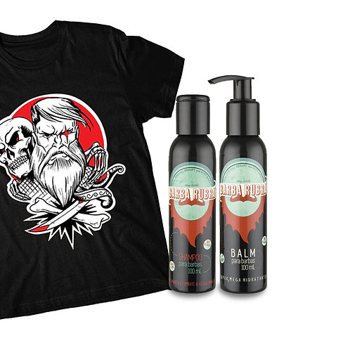 Kit Balm+Shampoo+Camiseta Old School