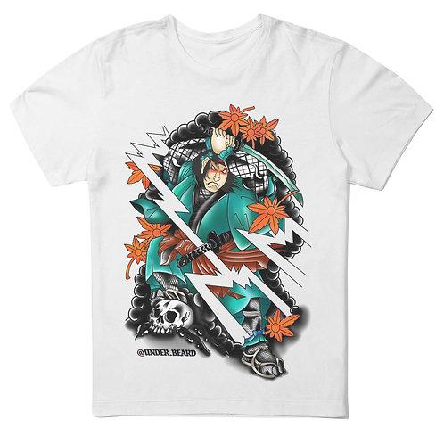 Camiseta branca Under Beard Samurai