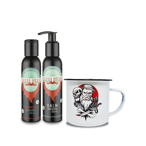 Kit Balm+Shampoo+Caneca Old School Under Beard