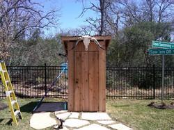Outhouse w/ Aggie Decor