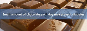 Small amount of chocolate each day may prevent diabetes