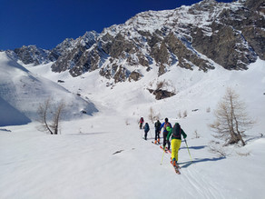 Due giornate in alta val Pellice, scialpinismo e accoglienza