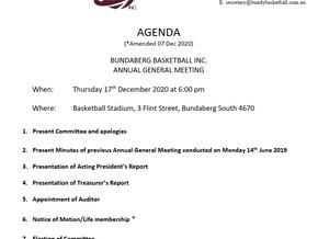 2020 AGM - Agenda Amendment