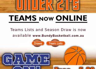 U21 Team Lists are GO