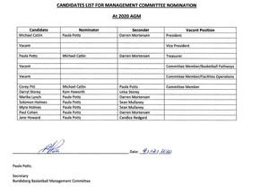 BBI 2020 AGM Candidates List