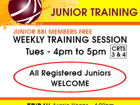 Weekly Junior Training Session...