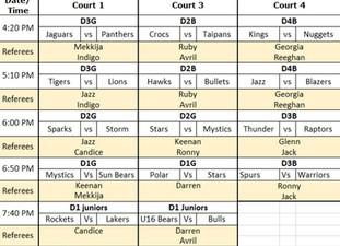 Finals Info & Jnr Draw 13/03