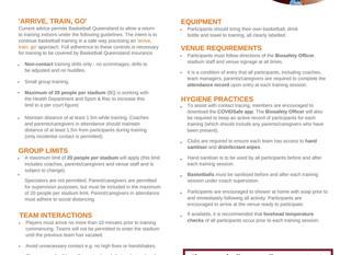 Return to Training – COVID-19 Update