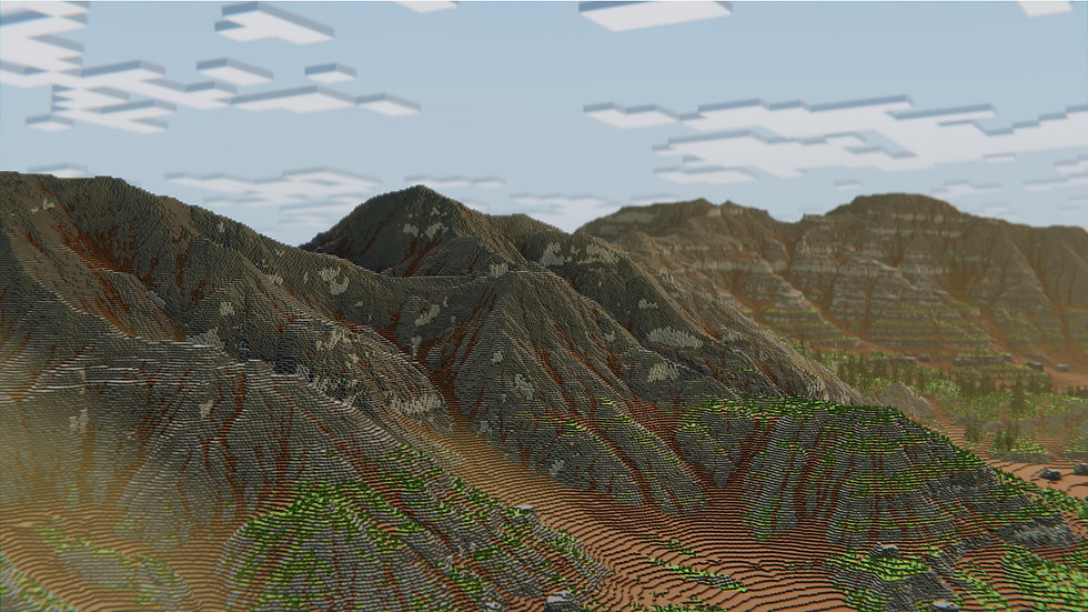 1000 x 1000 Mountain Range