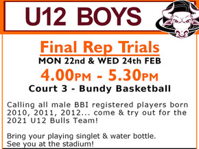 Final U12 Boys Rep Trials