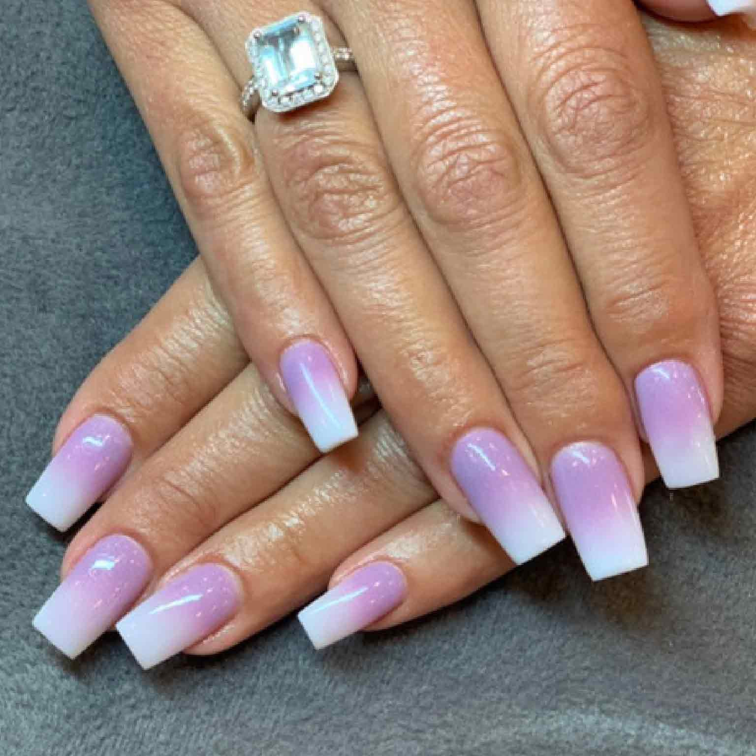 Dip Powder Ombre with Nail Extension
