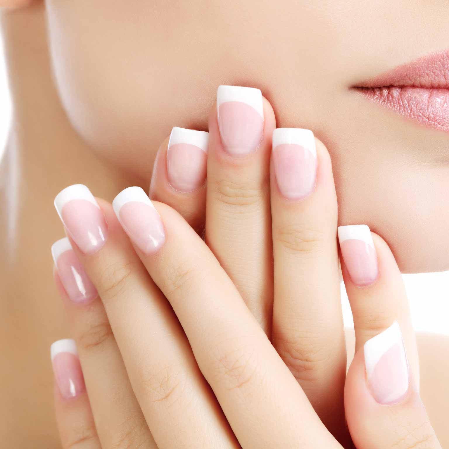 Dip Powder French with Nail Extension