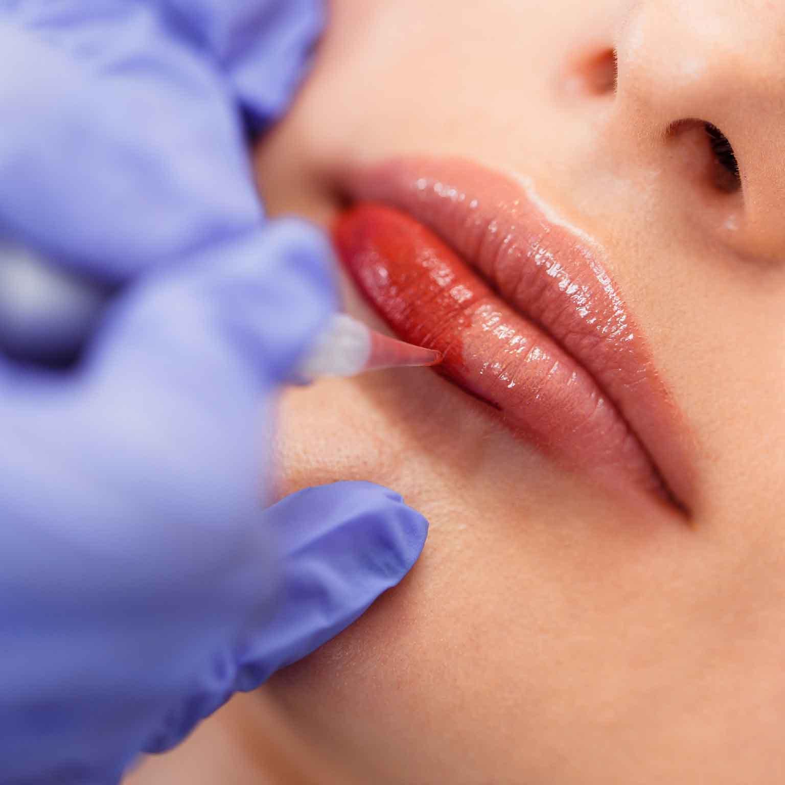 Full Lip Tattoo