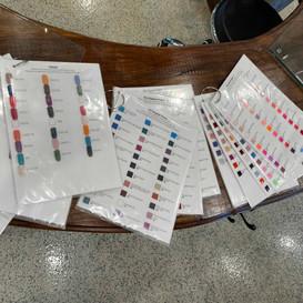 Disinfected polish samples