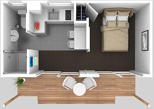 NZ Cabin interior View