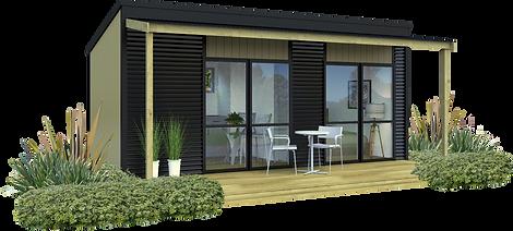 NZ Cabin Exterior View