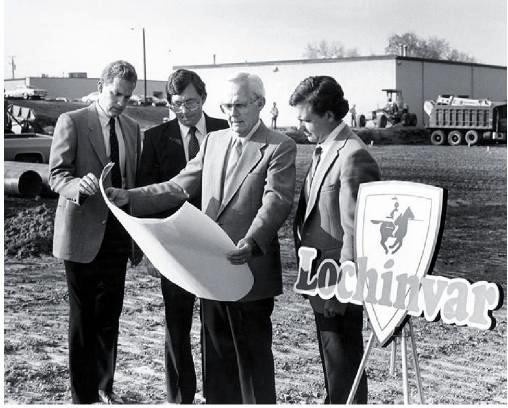 Bill Vallett's sons, pictured here with Vallett in 1979, have held active roles in the family business.