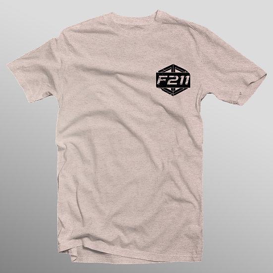 """Tan Cube """"F211"""" T-Shirt"""