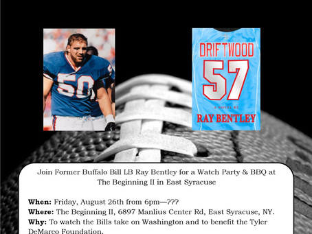 August 26th Watch Party at The Beginning II in Syracuse with Ray Bentley