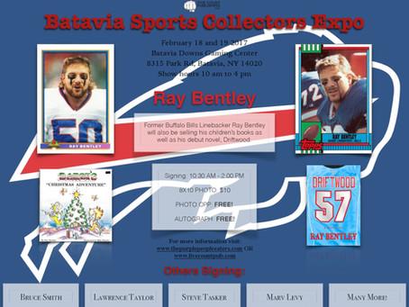 Ray Bentley among many signing at Batavia Sports Collector's Expo