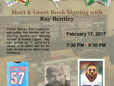 Buffalo Cigars to Host Ray Bentley for a book signing and meet & greet