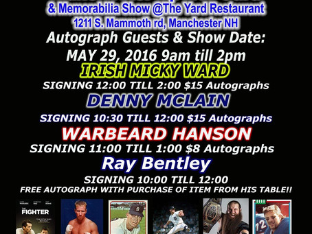 Manchester Sports Card Show hosting Ray Bentley and three other athletes