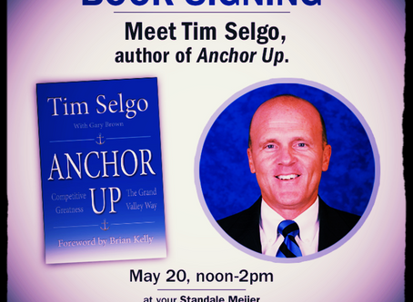 Book signing with Tim Selgo May 20 at Standale Meijer location