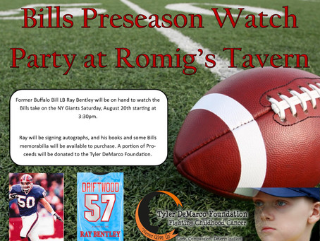 Join Ray Bentley for a Watch Party at Romig's Tavern August 20th